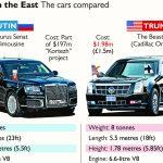 USA vs Russia protection teams, presidential limos