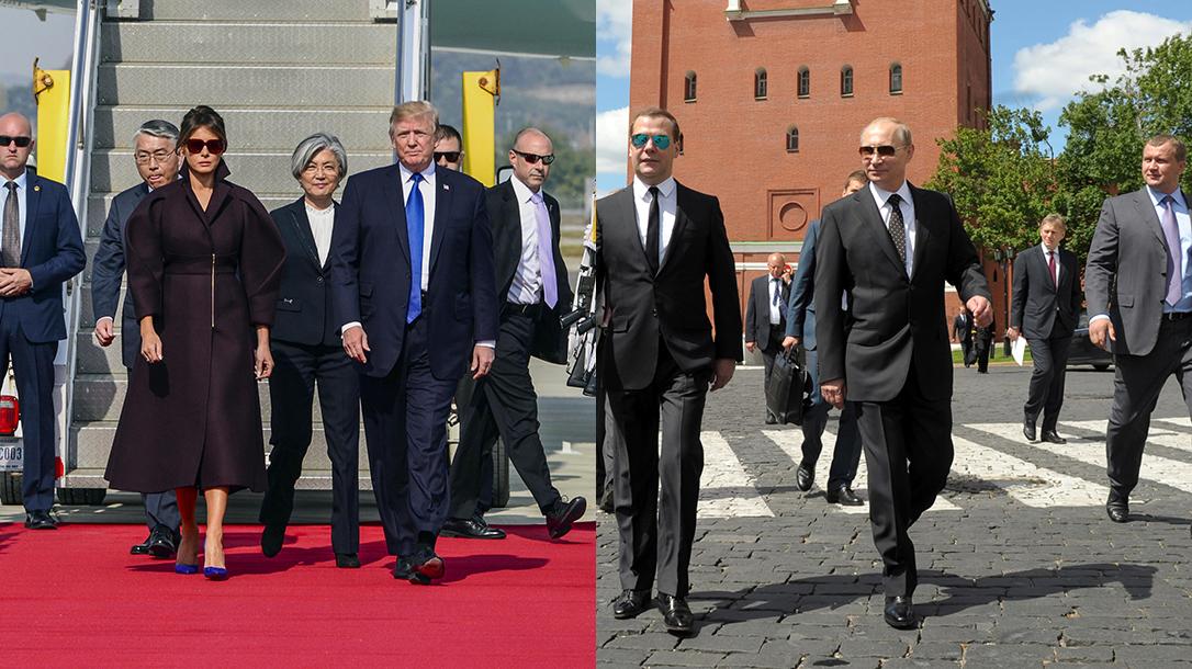 USA vs Russia protection teams, Donald Trump, Vladimir Putin