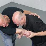 How to Escape a Chokehold, folding knife, step six