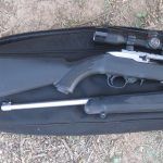 backpack, Ruger 10-22, open
