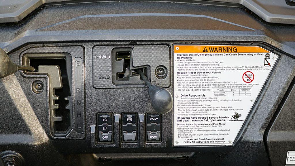 ATV, LE dashboard