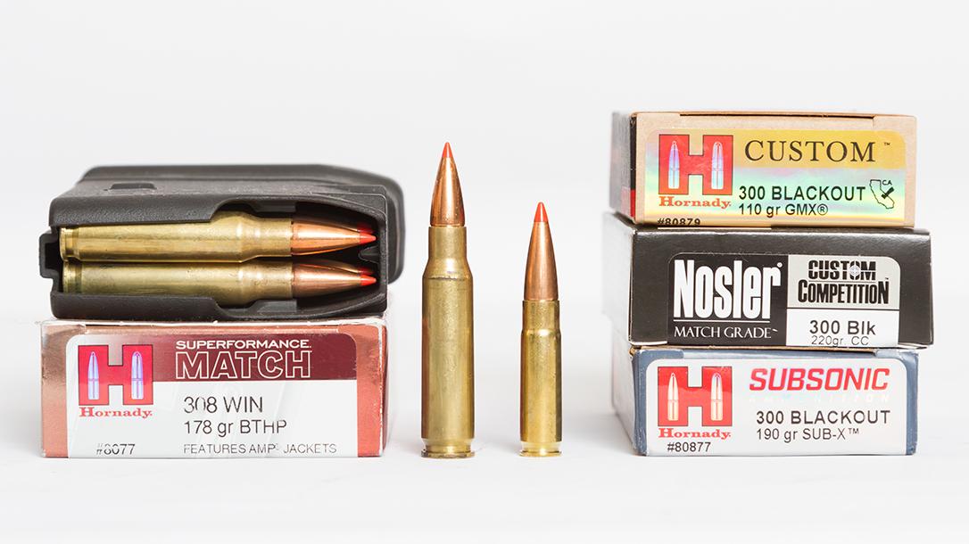 300 Blackout vs 308, rifles, ammunition