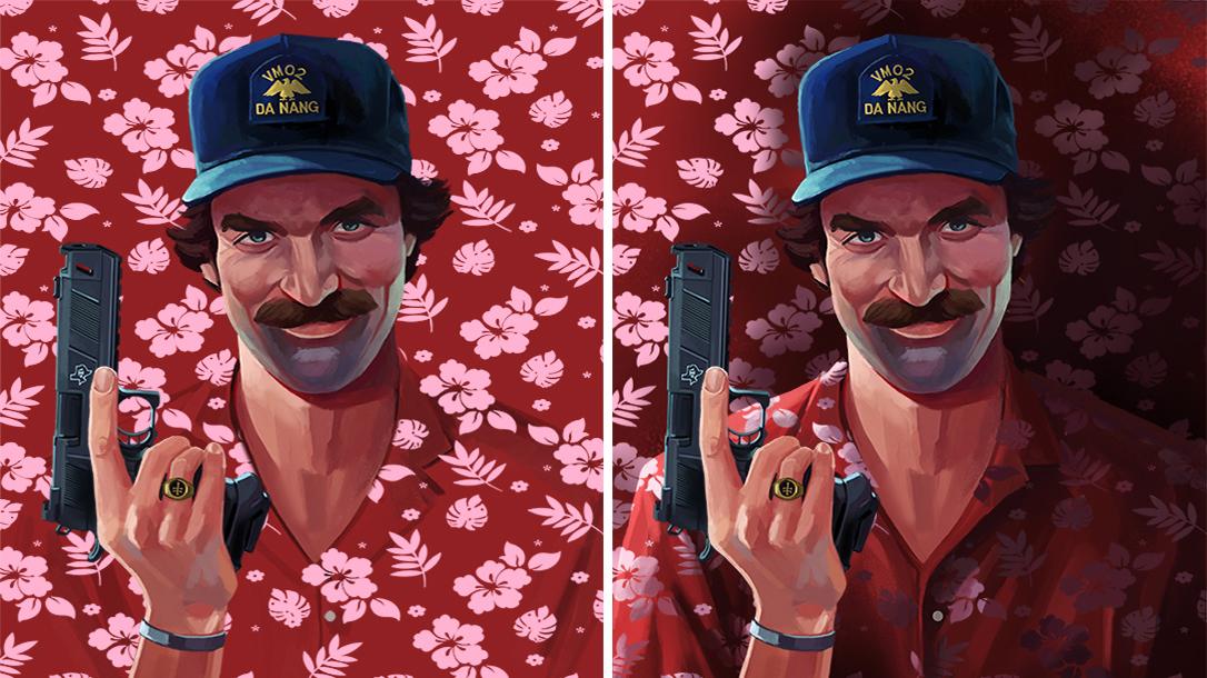Magnum PI Illustration