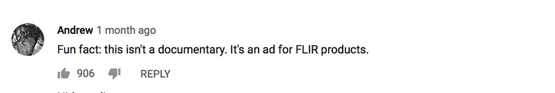 FLIR identiFINDER R440 YouTube comment