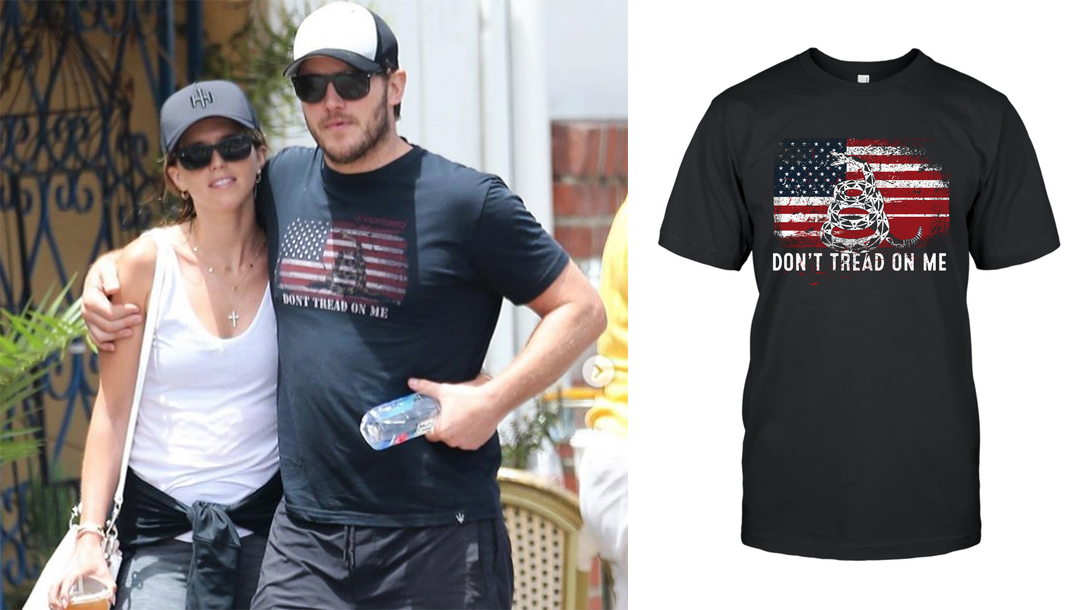 Chris Pratt, Gadsden Flag Shirt