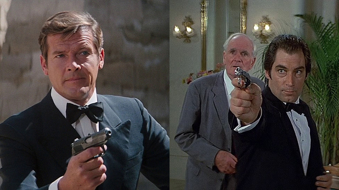 Roger Moore, Timothy Dalton, James Bond Guns