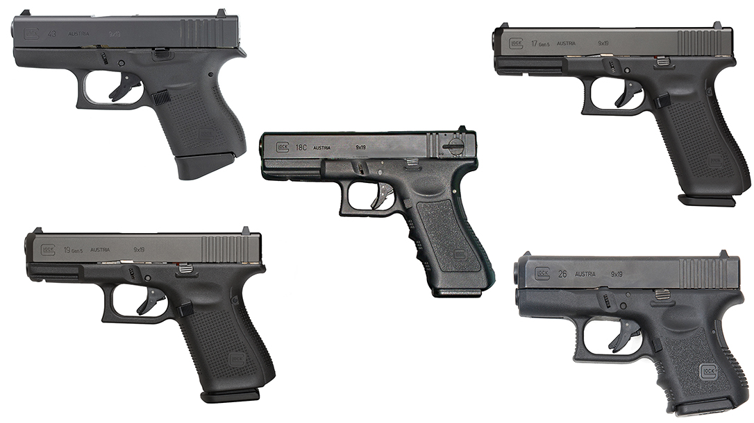Best Glock Pistols of All-Time, Glock 19, Glock 17, Glock 43, Glock 18, Glock 26