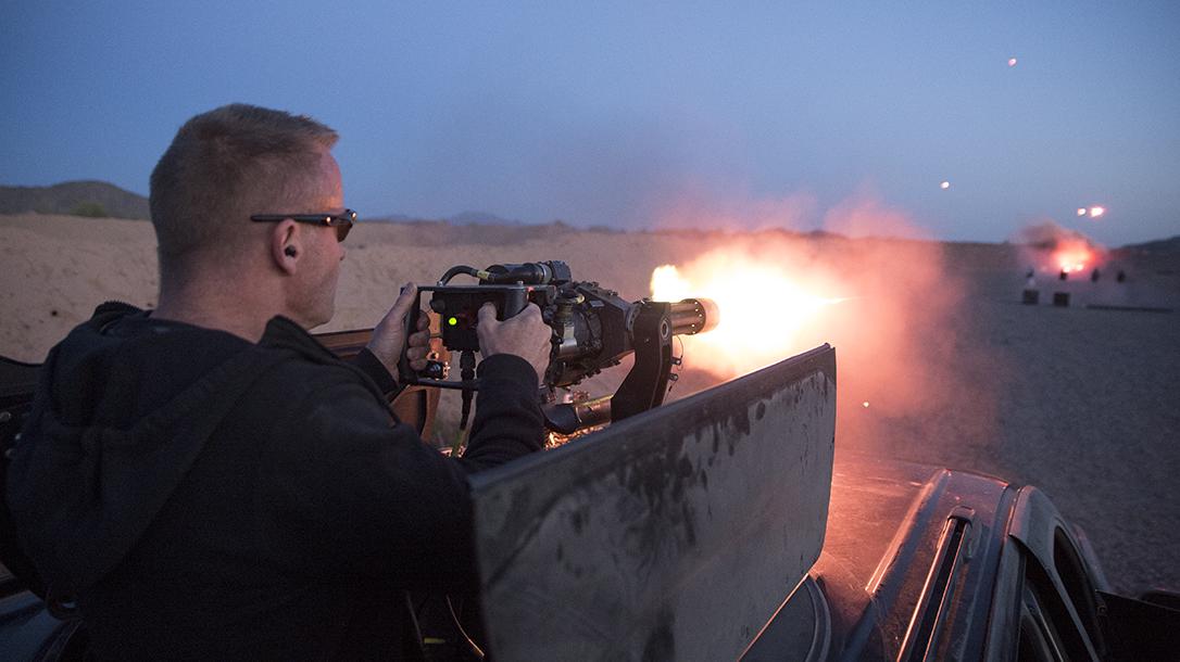 MGM Targets, Target Testing, M249, Dillon M134 Minigun