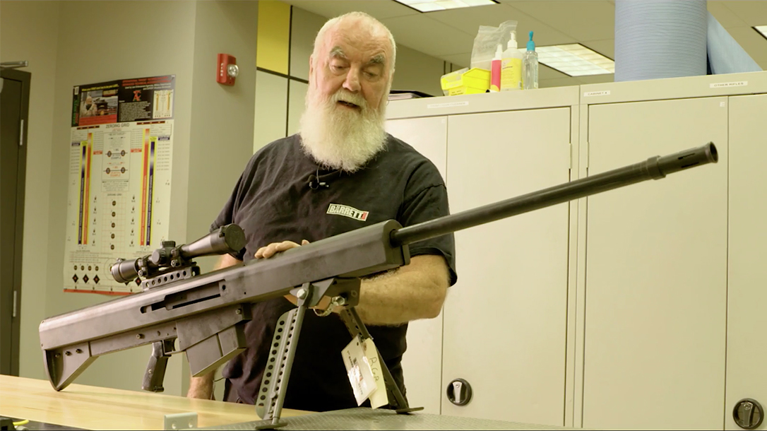 Barrett 50 Cal, original rifle, sweat lead and steel