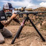 Shooting Tripod, precision shooting, kneeling position