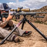 Shooting Tripod, precision shooting, sitting position