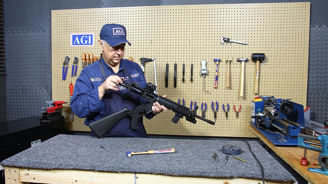 Gene Kelly, American Gunsmithing Institute, table