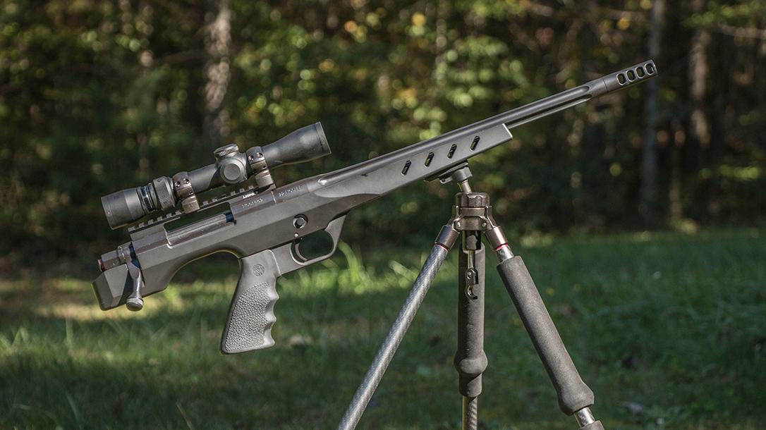 Nosler Custom Handgun, pistol, tripod