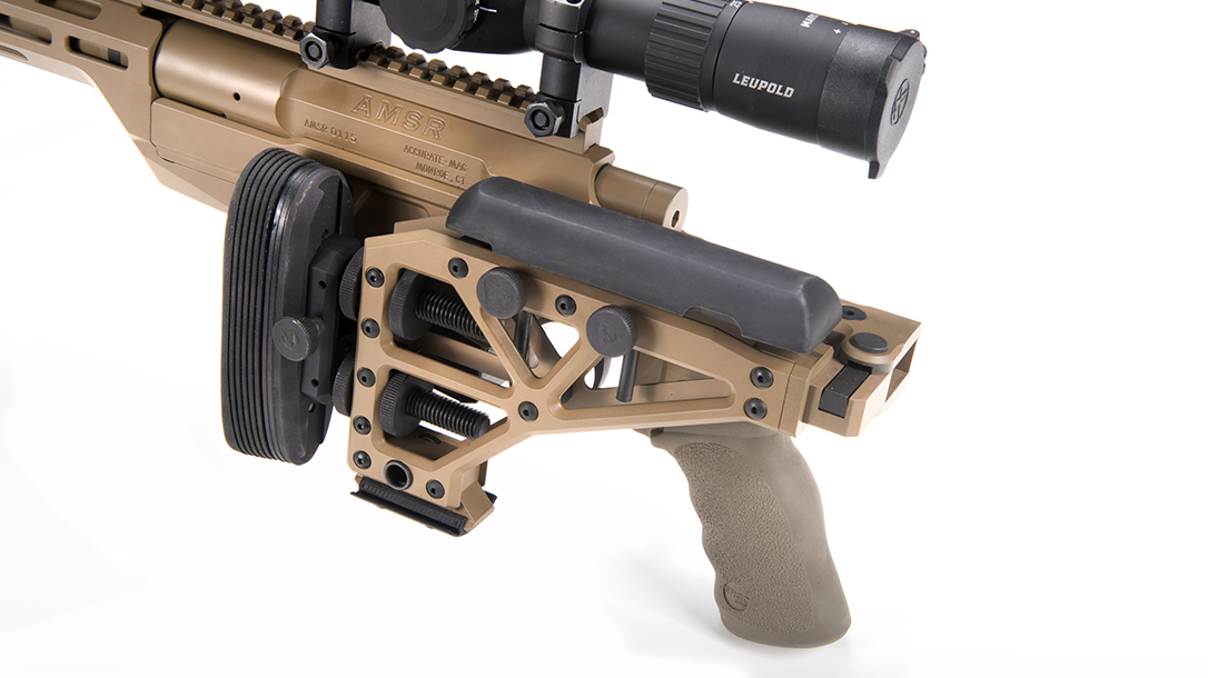 folding stock, USSOCOM rifle, .308 Norma mag, folded