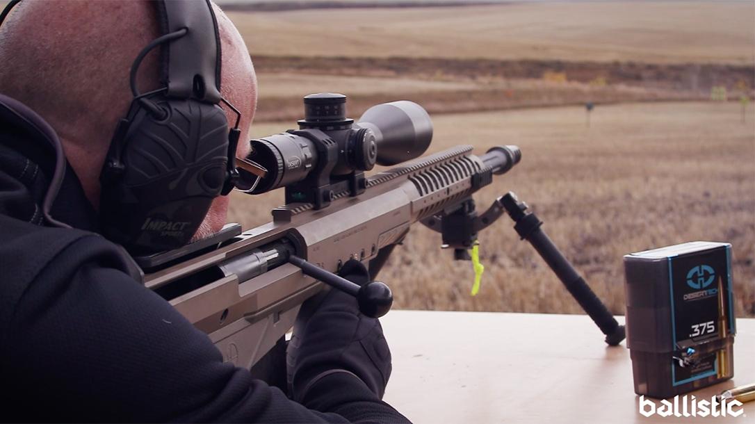 Desert Tech HTI Rifle .375 Cheytac, range test