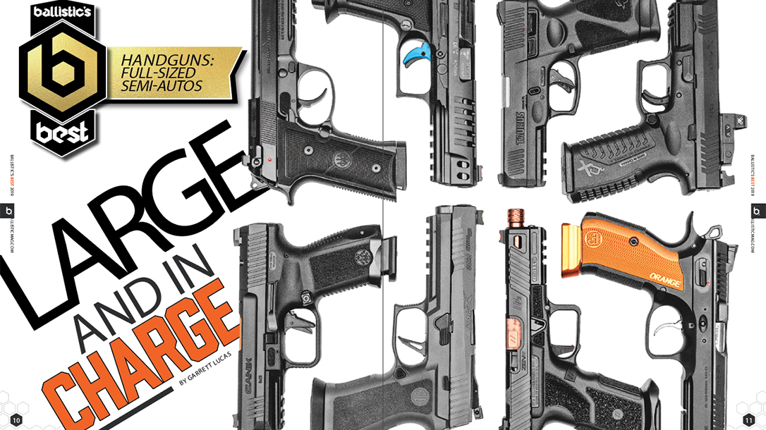Top Full-Size Semi-Auto Handguns, Roundup, comparison
