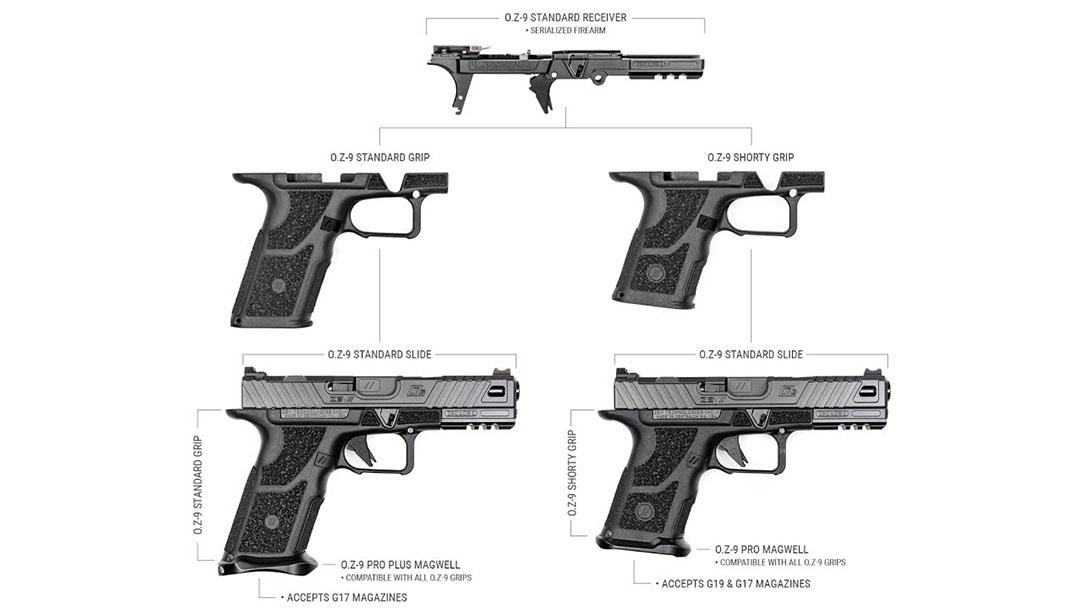 ZEV O.Z-9 Shorty Grip, measurements, specs