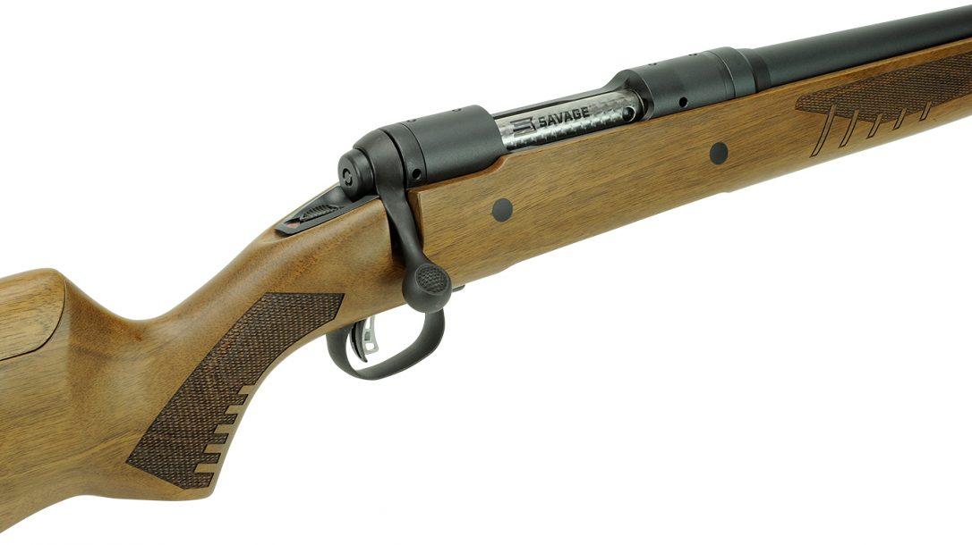 wood stock rifle, athlon outdoors rendezvous 2019, close up, bolt