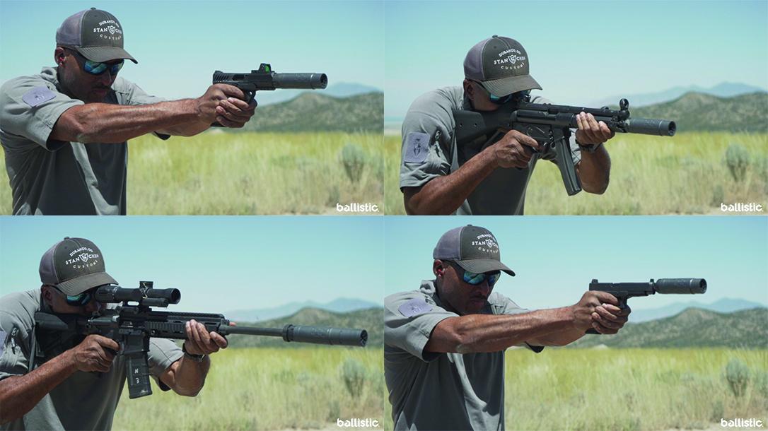 SilencerCo Omega 36M Modular Suppressor, rifle suppressor, pistol suppressor