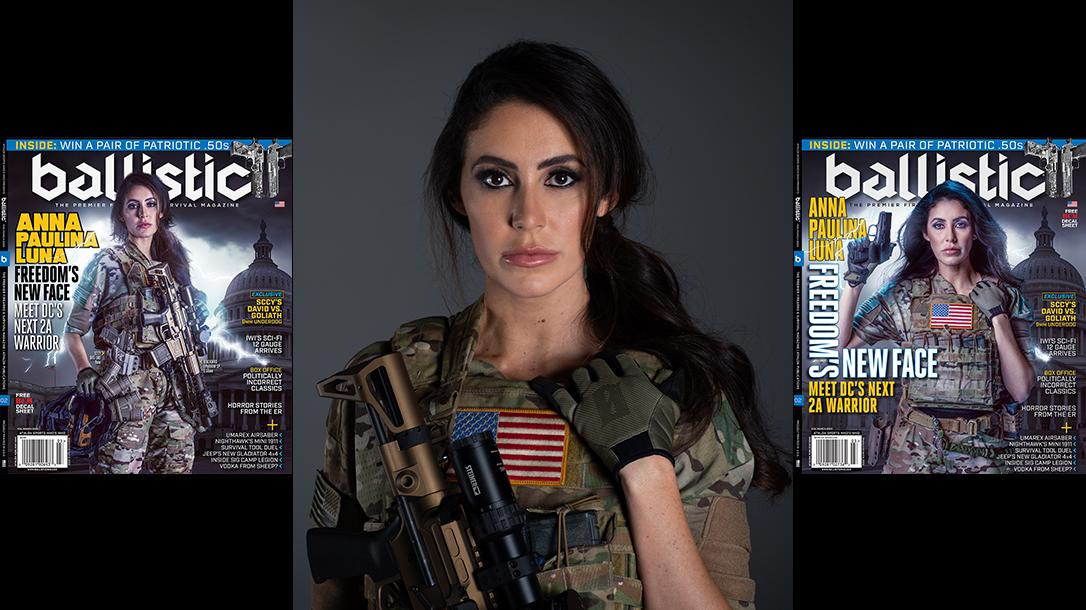 Anna Paulina Luna Ballistic Magazine Cover Shoot