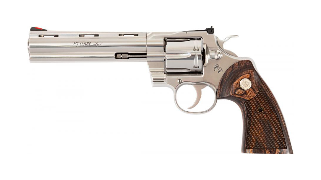 Colt Python revolver, .357 Magnum, 6-inch barrel, updated