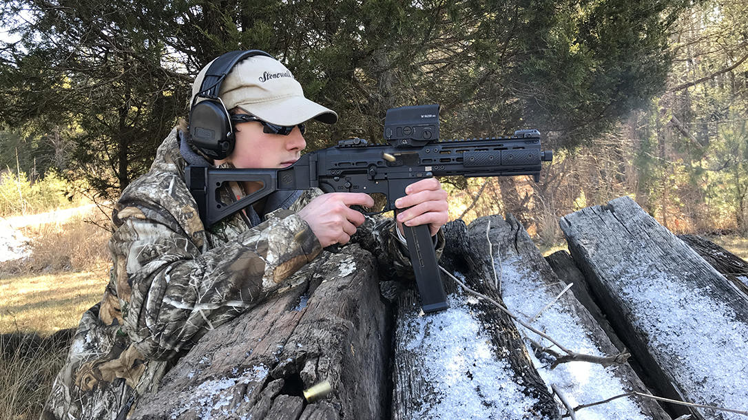 pistol carbine, .45 ACP, submachine gun, review, test