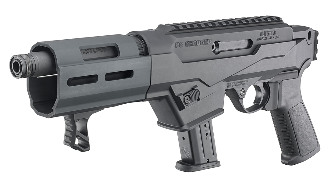Ruger PC Charger Takedown Pistol, 9mm Ruger Pistol, angle