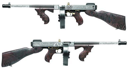 Custom Auto-Ordnance Trump Tommy Gun, Outlaw Ordnance, lead