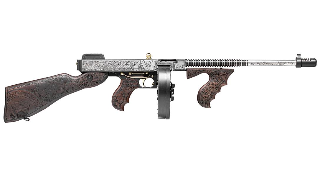 Custom Auto-Ordnance Trump Tommy Gun, Outlaw Ordnance, right