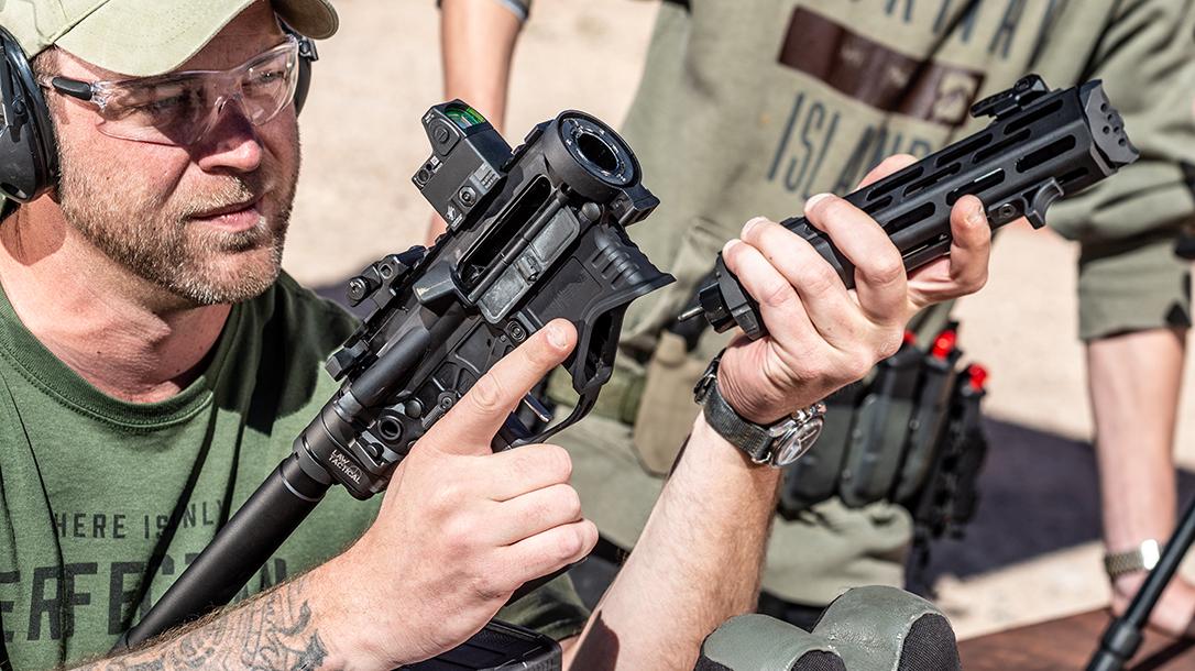 Springfield EVAC, Springfield Armory SAINT Edge EVAC Takedown AR Pistol Review, apart
