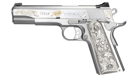 Kimber 1911 Texas Lonestar Pistol in .45 ACP, left