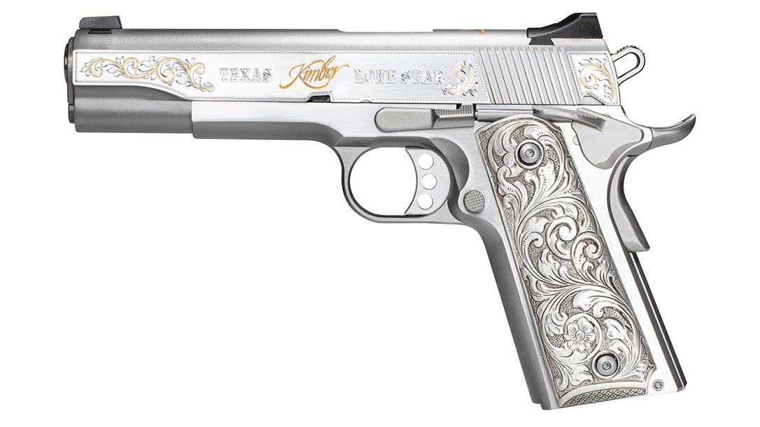 Kimber 1911 Texas Lonestar Pistol in .45 ACP, left