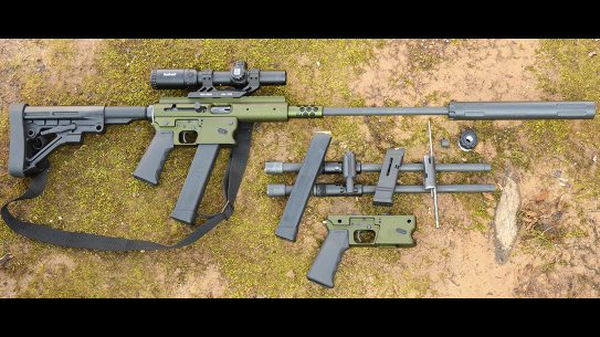 TNW Aero Survival Rifle, pistol caliber carbine, apart