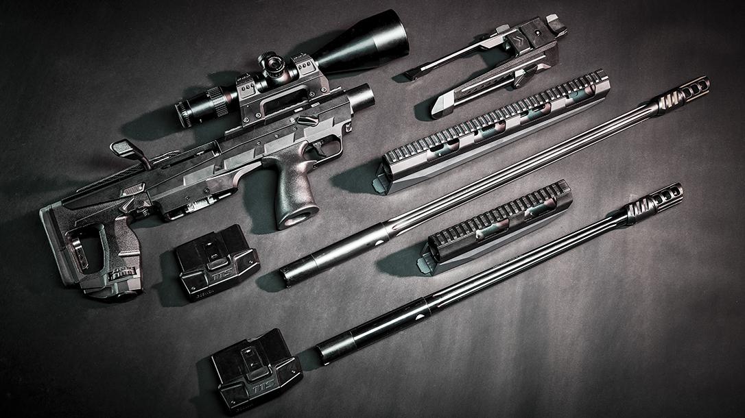 Tec Target Schneider bullpup sniper rifle, modular
