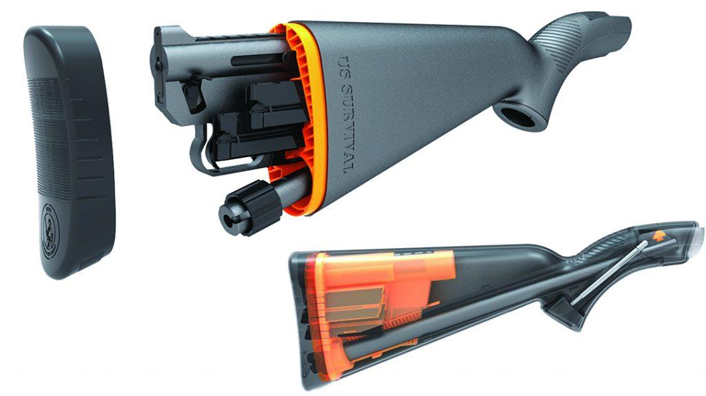Henry Survival Rifle, Stock storage