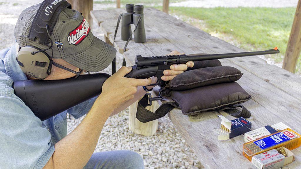 Henry Survival Rifle, range, aiming