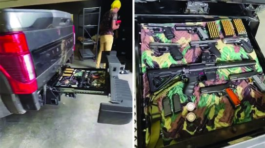 Hidden truck Gun Storage, truck bed
