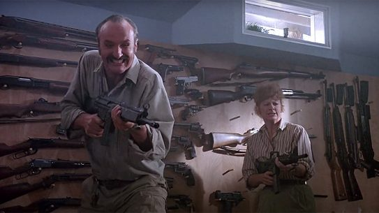 Burt Gummer gun room, Tremors gun scene