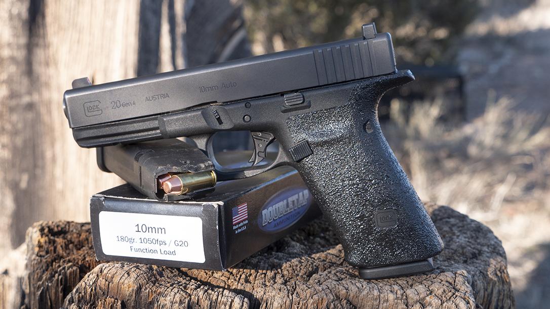 Glock 20 Gen 4 10mm Pistol review, G20, left