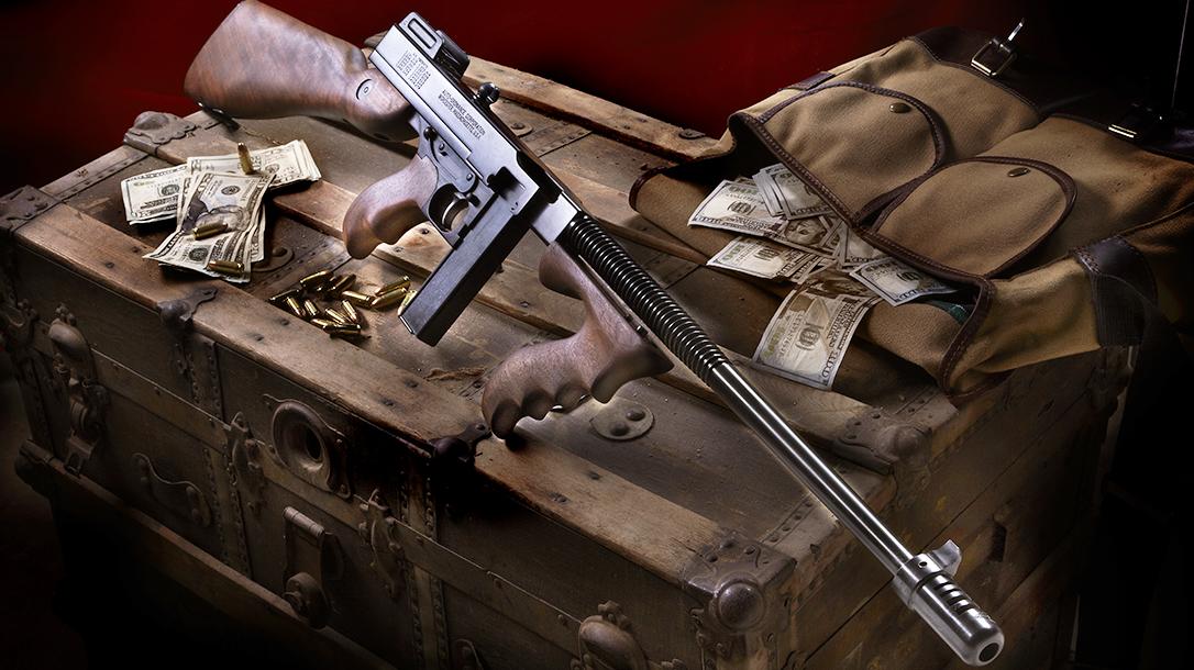 Auto-Ordnance 1927A-1C Lightweight Deluxe, 9mm Tommy Gun, Auto-Ordnance 1927 Thompson, lead