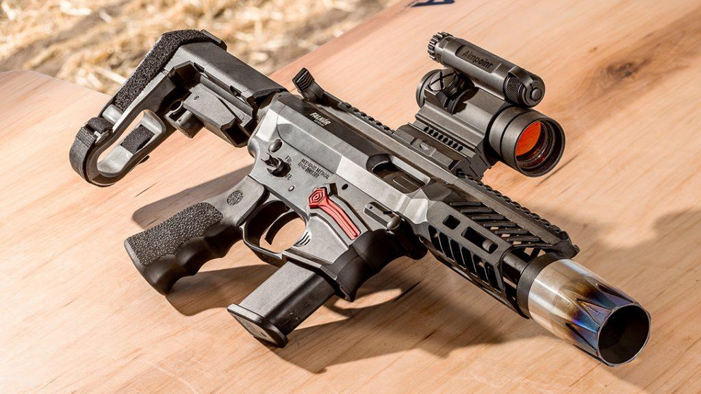 Falkor FG-9 Pistol, Pistol Caliber Carbine, PCC, bench