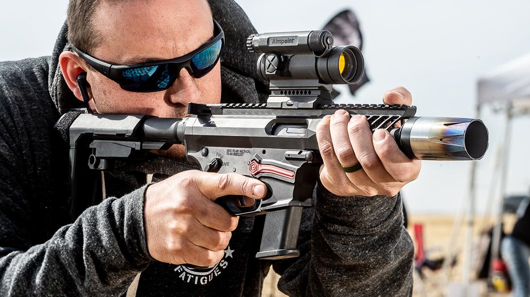 Falkor FG-9 Pistol, Pistol Caliber Carbine, PCC, lead