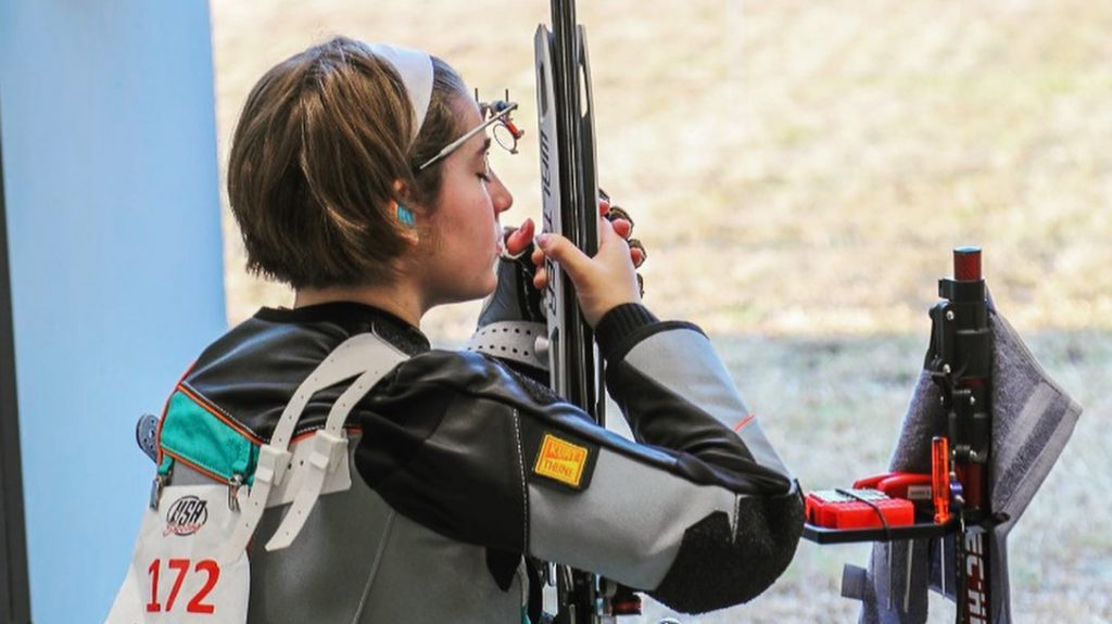 Lara Spanic Competitive Shooter, Precision Shooting, 2024 Olympics, range