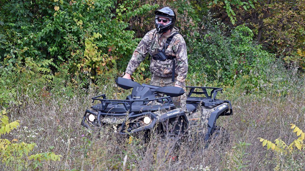 Can Am Outlander 1000R ATV review, brush