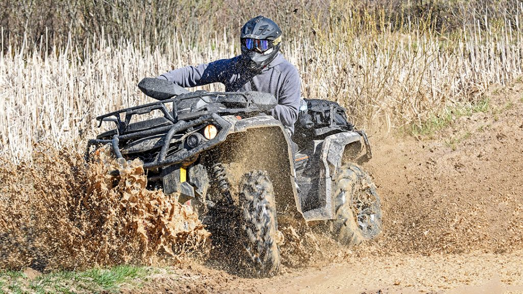 Can Am Outlander 1000R ATV review, mud