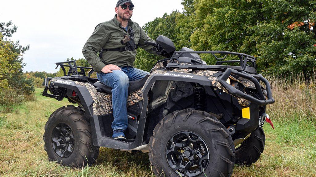 Can Am Outlander 1000R ATV review, pistol