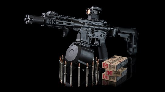 PWS MK107 Diablo ar pistol, drum magazine
