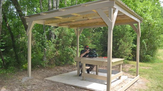DIY Shooting Shed, Shooting Bench Cover