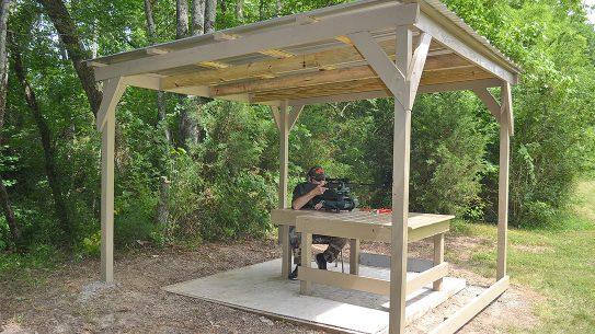 DIY Shooting Shed, Shooting Bench Cover