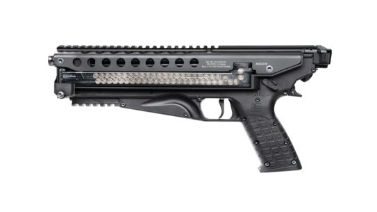 KelTec P50 5.7x28mm pistol, left